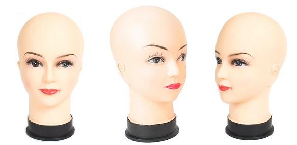 head face manikin mannequin Female Makeup Mask Wig hat display model