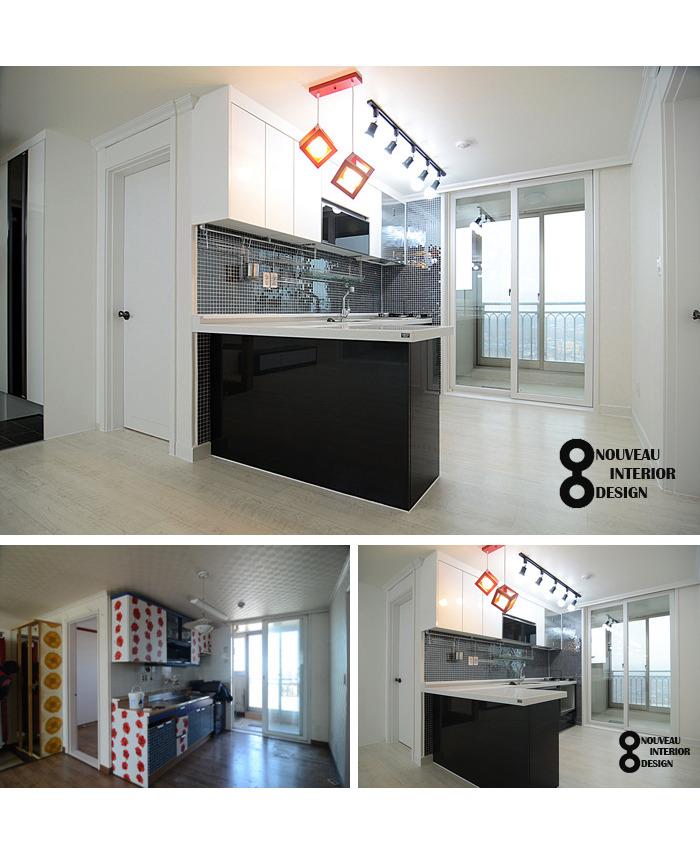 이천 부발읍 신한 아파트 22평 주방 리모델링 [UV하이그로시 ...