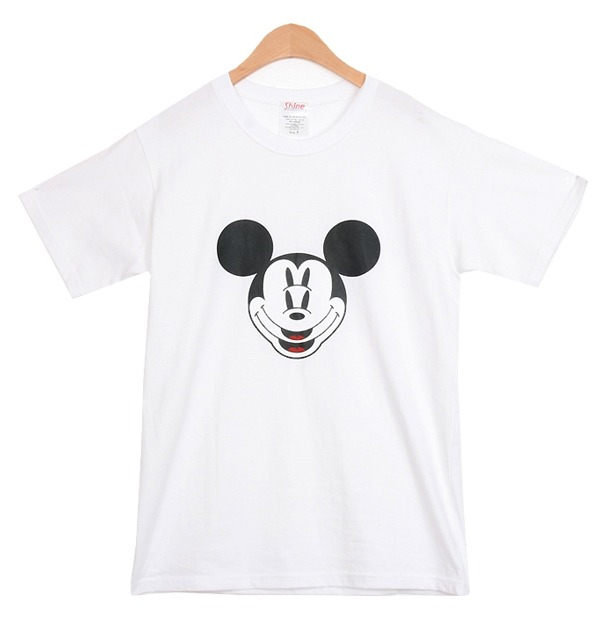 NEW Jumping Mickey Mouse Face Graphic 2NE1 KPOP Airport Fashion White