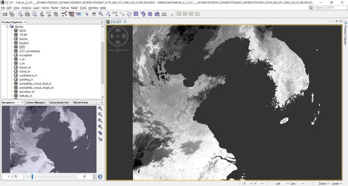SNAP에서 센티널 3호 위성영상 내 구름 마스킹 하기