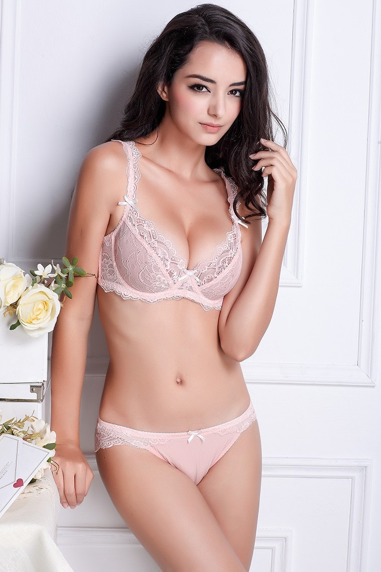 a girl in lingerie
